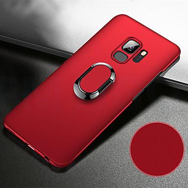 voordelige Galaxy S-serie hoesjes / covers-hoesje Voor Samsung Galaxy S9 / S9 Plus / S8 Plus Schokbestendig / met standaard / Ringhouder Achterkant Effen Hard PC / Metaal / Ultradun
