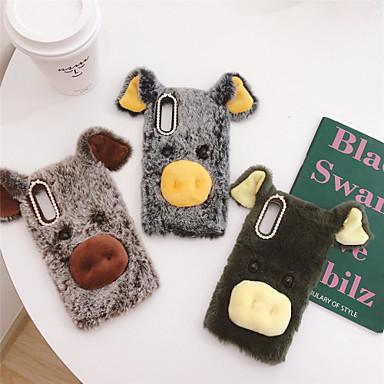 cheap Galaxy A7 Cases / Covers-Case For Samsung Galaxy Galaxy A7(2018) / A8 2018 / A8 Rhinestone Back Cover Animal / Plush TPU