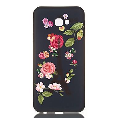 voordelige Galaxy J-serie hoesjes / covers-hoesje Voor Samsung Galaxy J7 (2017) / J6 (2018) / J5 (2017) Schokbestendig / Mat / Patroon Achterkant Bloem TPU