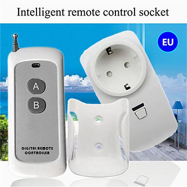رخيصةأون Smart Plug-لاسلكي للتحكم عن بعد / مأخذ توصيل المنزل الذكي / ac110-265v غرفة المعيشة ضوء الطاقة على / قبالة الذكية للتحكم عن بعد / الاتحاد الأوروبي عن بعد 433 ميغاهيرتز