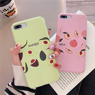 voordelige iPhone-hoesjes-hoesje voor apple iphone xr / iphone xs max patroon / glow in the dark achterkant voedsel hard pc voor iphone x xs 8plus 8 7plus 7 6 6s 6plus 6s plus