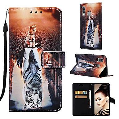 غطاء من أجل Samsung Galaxy Galaxy A7(2018) / Galaxy A10 (2019) / Galaxy A30 (2019) محفظة / حامل البطاقات / مع حامل غطاء كامل للجسم حيوان قاسي جلد PU