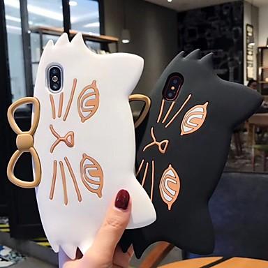 Недорогие Кейсы для iPhone 6 Plus-Кейс для Назначение Apple iPhone XS / iPhone XR / iPhone XS Max С узором / Своими руками Кейс на заднюю панель Мультипликация Мягкий силикагель
