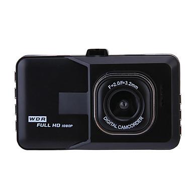WDR 1080p Full HD / Start automatische opname Auto DVR 170 graden Wijde hoek CMOS 3 inch(es) TFT Dash Cam met G-Sensor / auto aan / uit / Ingebouwde Microfoon 6 infrarood LED's Autorecorder