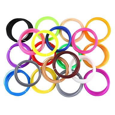 povoljno 3D pisač pribor-myriwell pla 1.75mm filament 20colors 5m slučajna boja odabrani 3d tiskani pla 1.75mm 3d olovka plastični 3d pisač pla filament 3d olovke pla sigurnost okoliša