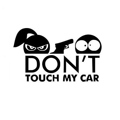 تصفيف السيارة ملصق سيارة مضحك للتحذير لا تلمس سيارتي