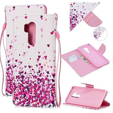 Недорогие Чехлы и кейсы для LG-Кейс для Назначение LG LG Q Stylus / LG StyLo 3 / LG Stylo 4 Кошелек / Бумажник для карт / Защита от удара Чехол С сердцем Кожа PU
