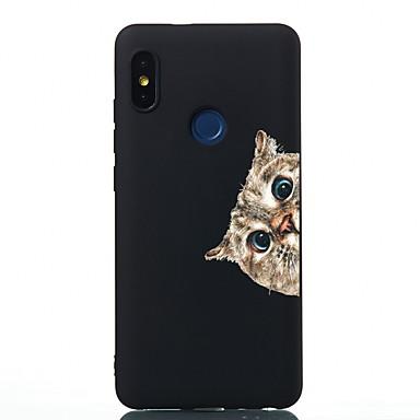 Недорогие Чехлы и кейсы для Xiaomi-Кейс для Назначение Xiaomi Xiaomi Redmi Note 4X / Redmi 6 / Redmi 5A Защита от удара / Матовое / С узором Кейс на заднюю панель Кот ТПУ