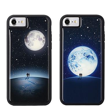 Недорогие Кейсы для iPhone 7 Plus-Кейс для Назначение Apple iPhone XS / iPhone XR / iPhone XS Max Сияние в темноте / Защита от удара Кейс на заднюю панель Геометрический рисунок Мягкий ТПУ / ПК