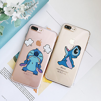 voordelige iPhone-hoesjes-hoesje Voor Apple iPhone XS / iPhone XR / iPhone XS Max Schokbestendig / Stofbestendig / Transparant Achterkant Transparant / Cartoon TPU