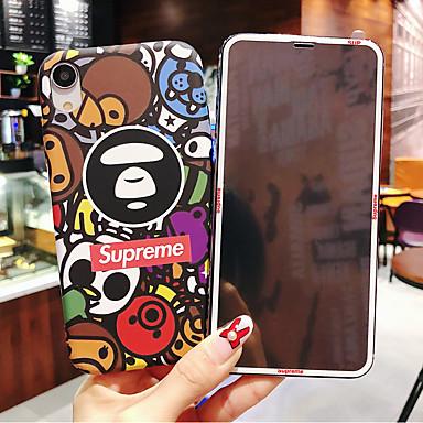 Недорогие Кейсы для iPhone-чехол для яблока iphone xr / iphone xs max выкройка / светящиеся в темноте задняя крышка мультфильм жесткий ПК для iphone x xs 8plus 8 7plus 7 6 6s 6plus 6s plus