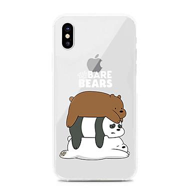 voordelige iPhone 6 hoesjes-hoesje Voor Apple iPhone XS / iPhone XR / iPhone XS Max Schokbestendig / Stofbestendig / Transparant Achterkant Transparant / Cartoon TPU