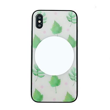 voordelige iPhone-hoesjes-hoesje Voor Apple iPhone XS / iPhone XS Max / iPhone 8 Plus Stofbestendig / Spiegel / Patroon Achterkant Cartoon / Boom Gehard glas / PC
