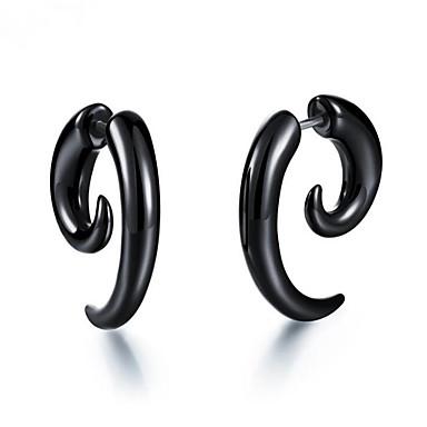 povoljno Naušnice-Muškarci Žene Naušnica Vintage Style Totem Series Stilski Naušnice Jewelry Crn Za Dar Dnevno 1 par