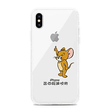 voordelige iPhone-hoesjes-hoesje Voor Apple iPhone XS / iPhone XR / iPhone XS Max Schokbestendig / Stofbestendig / Transparant Achterkant Transparant / Cartoon TPU
