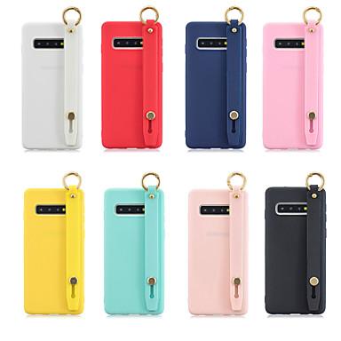 Недорогие Чехлы и кейсы для Galaxy S-Кейс для Назначение SSamsung Galaxy S9 / S9 Plus / S8 Plus со стендом / Матовое Кейс на заднюю панель Однотонный Мягкий ТПУ