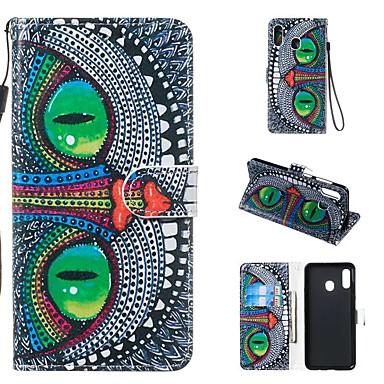 غطاء من أجل Samsung Galaxy A5(2018) / A6 (2018) / A6+ (2018) محفظة / حامل البطاقات / مع حامل غطاء كامل للجسم حيوان قاسي جلد PU