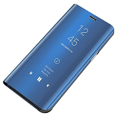 Недорогие Чехлы и кейсы для Galaxy S-Кейс для Назначение SSamsung Galaxy S6 Защита от пыли / Зеркальная поверхность / Флип Чехол Однотонный Твердый ПК