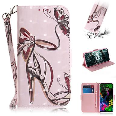 رخيصةأون LG أغطية / كفرات-غطاء من أجل LG LG V40 / LG G8 محفظة / حامل البطاقات / مع حامل غطاء كامل للجسم امرآة مثيرة جلد PU