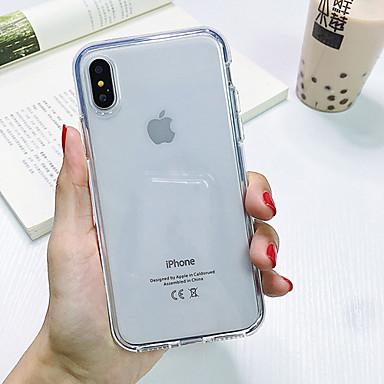 Недорогие Кейсы для iPhone-Кейс для Назначение Apple iPhone XS Max / iPhone X / iPhone 8 Защита от удара / Защита от пыли / Прозрачный Кейс на заднюю панель Прозрачный ТПУ