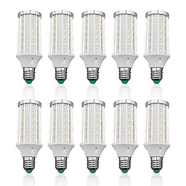 olcso LED izzók-LOENDE 10pcs 25 W LED kukorica izzók 2500 lm E26 / E27 T 90 LED gyöngyök SMD 5730 Meleg fehér Fehér 85-265 V