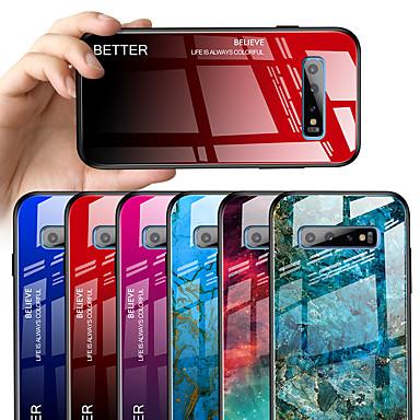 voordelige Galaxy S-serie hoesjes / covers-case voor samsung galaxy s10 s10e s10 plus spiegel full body cases kleurverloop tpu gehard glas s9 s9 plus