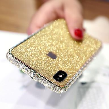Недорогие Кейсы для iPhone-bling bling чехол для apple iphone xr горный хрусталь алмазный чехол задняя крышка сплошной цвет твердый металлический чехол для iphone xs / iphone xs max