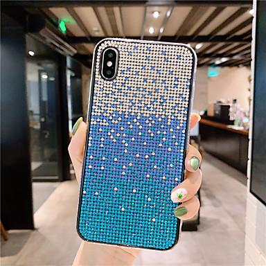 お買い得  iPhone 6 用ケース-ケース 用途 Apple iPhone XS / iPhone XR / iPhone XS Max 耐埃 / ラインストーン バックカバー カラーグラデーション ハード TPU