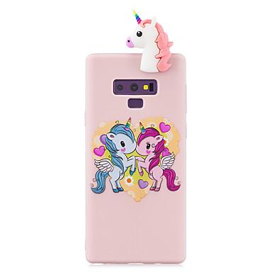 voordelige Galaxy Note-serie hoesjes / covers-case voor Samsung note 9 3d cartoon mooie gekleurde geverfde zachte tpu achterkant antislip schokbestendig volledig beschermend etui