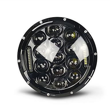 voordelige Motorverlichting-projector 7 inch 75w led daymaker motorfiets koplamp zwart harley street glide softail flx fld (past harley-davidson)