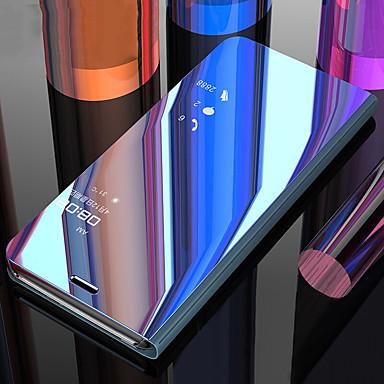 رخيصةأون Xiaomi أغطية / كفرات-غطاء من أجل Xiaomi Xiaomi Redmi Note 6 / Xiaomi Redmi 6 Pro / Xiaomi Redmi Note 7 ضد الصدمات / مع حامل / مرآة غطاء كامل للجسم لون سادة الكمبيوتر الشخصي / Xiaomi Redmi Note 4X