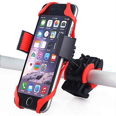 olcso Tartók-Telefon tartó Állítható 360 fokos forgás GPS mert Treking bicikli Mountain bike Motorbicikli Szilícium ABS iPhone X iPhone XS iPhone XR Kerékpározás Fekete Piros 1 pcs