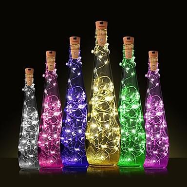 رخيصةأون أضواء LED العصرية-1PC زجاجة النبيذ سدادة الصمام ليلة الخفيفة أبيض دافئ الديكور / مصباح الجو