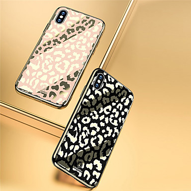 voordelige iPhone-hoesjes-hoesje Voor Apple iPhone XS / iPhone XR / iPhone XS Max Beplating / Patroon Achterkant Woord / tekst Hard Gehard glas