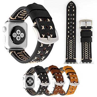 voordelige Smartwatch-accessoires-Horlogeband voor Apple Watch Series 5/4/3/2/1 Apple Klassieke gesp Nylon / Echt leer Polsband