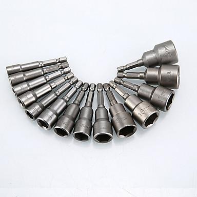 Недорогие Аварийные инструменты-9шт магнитный наконечник быстроразъемной отвертки 1/4 шестигранный хвостовик 6мм-14мм электрический держатель отвертки втулка сверла