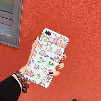 voordelige iPhone-hoesjes-hoesje Voor Apple iPhone XS / iPhone XR / iPhone XS Max IMD / Patroon Achterkant dier / Cartoon TPU