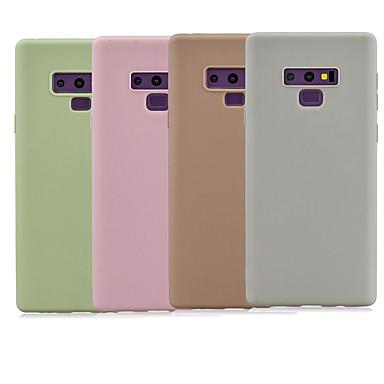 Недорогие Чехлы и кейсы для Galaxy Note-Кейс для Назначение SSamsung Galaxy Note 9 / Note 8 Матовое Кейс на заднюю панель Однотонный ТПУ