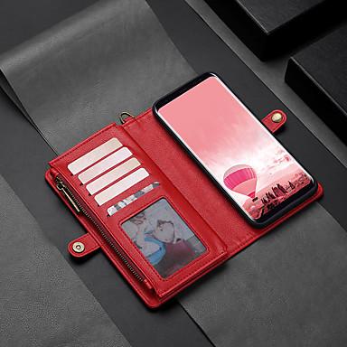 povoljno Maske/futrole za Galaxy S seriju-Θήκη Za Samsung Galaxy S8 Plus Novčanik / Utor za kartice / Zaokret Korice Jednobojni Tvrdo PU koža
