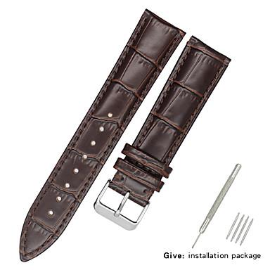 رخيصةأون قيود ساعات-جلد أصلي / جلد / شعر العجل حزام حزام إلى أسود / الأبيض / أزرق Other / 17CM / 6.69 بوصة / 19cm / 7.48 Inches 1.2cm / 0.47 Inches / 1.3cm / 0.5 Inches / 1.4cm / 0.55 Inches