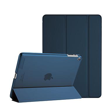 رخيصةأون أغطية أيباد-غطاء من أجل Apple iPad 4/3/2 قلب / أورجامي / مغناطيس غطاء كامل للجسم لون سادة جلد PU