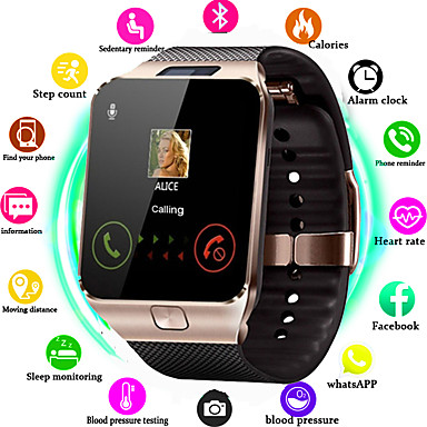 cheap Smart Electronics-DS09 Smart Watch  Clock Support TF SIM Camera Men Women Sport Bluetooth Wristwatch for Samsung Huawei Xiaomi Android Phone