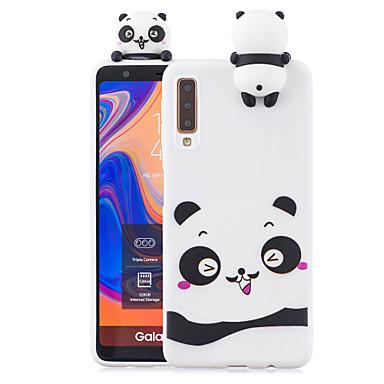 voordelige Galaxy A-serie hoesjes / covers-case voor Samsung a7 2018 3d cartoon mooie gekleurde geverfde zachte tpu achterkant antislip schokbestendig volledig beschermend geval