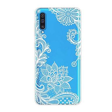 Недорогие Чехлы и кейсы для Galaxy А-Кейс для Назначение SSamsung Galaxy A6 (2018) / A6+ (2018) / Galaxy A7(2018) Защита от удара / Прозрачный / С узором Кейс на заднюю панель Цветы ТПУ