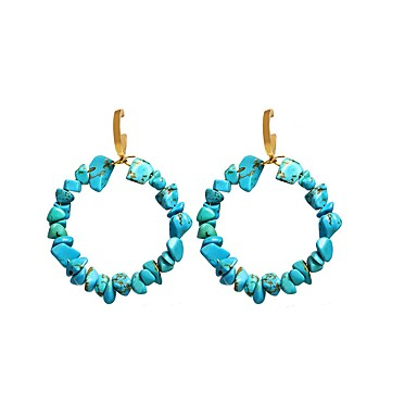 povoljno Naušnice-Žene Tirkiz Viseće naušnice Klasičan Sretan Tropical Romantični Naušnice Jewelry Navy Plava Za Dar Festival 1 par