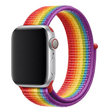 Недорогие Аксессуары для смарт-часов-Нейлоновый ремешок для яблочного ремешка для часов 44мм 40мм 42мм 38мм Спортивный браслет с ремешком для часов серии Apple 5/4/3/2/1 аксессуары