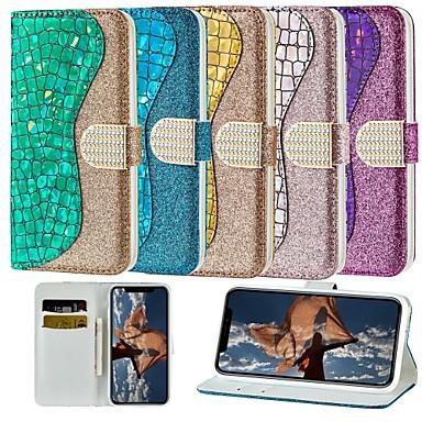 voordelige Galaxy J-serie hoesjes / covers-hoesje Voor Samsung Galaxy J6 / J6 Plus / J5 (2017) Portemonnee / Kaarthouder / met standaard Volledig hoesje Glitterglans Hard PU-nahka