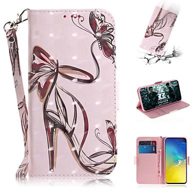 رخيصةأون حافظات / جرابات هواتف جالكسي S-غطاء من أجل Samsung Galaxy S7 edge / S7 / Galaxy S10 محفظة / حامل البطاقات / مع حامل غطاء كامل للجسم امرآة مثيرة جلد PU