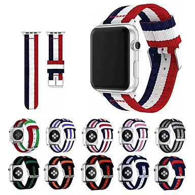 billiga Tillbehör till mobilen-Klockarmband för Apple Watch Series 5/4/3/2/1 Apple Sportband / Klassiskt spänne Nylon Handledsrem