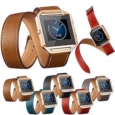 رخيصةأون أساور ساعات FitBit-حزام إلى Fitbit Blaze فيتبيت عصابة الرياضة / عقدة جلدية جلد طبيعي شريط المعصم